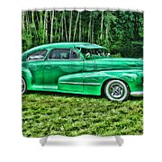 Green Classic Hdr Shower Curtain