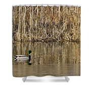 Green Drake Reflections Shower Curtain