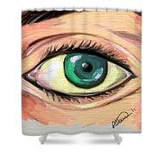 Green Eye Shower Curtain