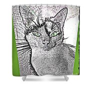 Green Eyed Monster Shower Curtain