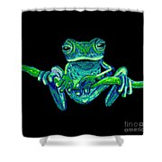 Green Ghost Frog Shower Curtain
