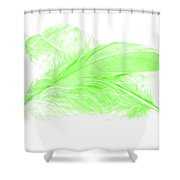 Green Ghost Shower Curtain