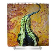 Green Gourd Shower Curtain