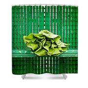 Green Greens Shower Curtain