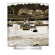 Green Harbor At Low Tide Shower Curtain