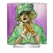 Green Hat Shower Curtain