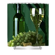 Green Is White Shower Curtain by Elaine Plesser