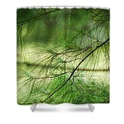 Green Light Shower Curtain