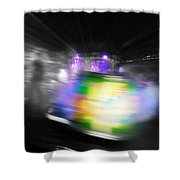Green Manalishi Shower Curtain