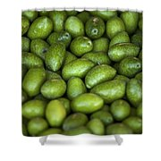 Green Olives Shower Curtain by Joana Kruse