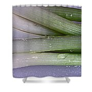 Green Onions Shower Curtain