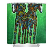 Green Pastures Shower Curtain