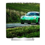 Green Porsche Shower Curtain