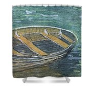 Green Sea My Boat And Me Shower Curtain