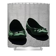 Green Shoes Shower Curtain