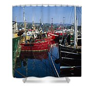 Greencastle, Lough Foyle, Co Donegal Shower Curtain