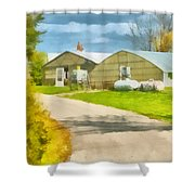 Greenhouses Shower Curtain