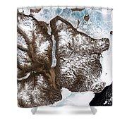Greenland Sea Ice Shower Curtain