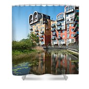 Greenwich Millennium Village Shower Curtain