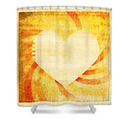 greeting card Valentine day Shower Curtain by Setsiri Silapasuwanchai