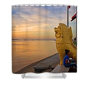 Greeting The Dawn. Shower Curtain