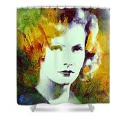 Greta Garbo Abstract Pop Art Shower Curtain