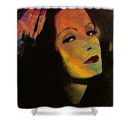 Greta Garbo Pop Art Shower Curtain