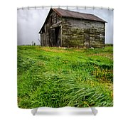 Grey County Barn Shower Curtain