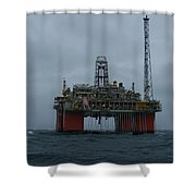 Grey Day At Snorre Shower Curtain