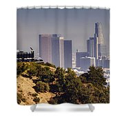 Griffith And Los Angeles Shower Curtain