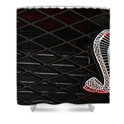 Grilled Snake Shower Curtain