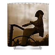 Grim Hay Reaper Shower Curtain