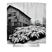 Grist Mill In Winter - Hdr Shower Curtain
