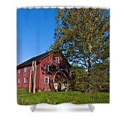 Grist Mill Painted Shower Curtain