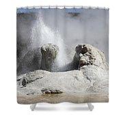 Grotto Geyser Eruption, Upper Geyser Shower Curtain