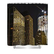 Ground Zero Freedom Tower Shower Curtain