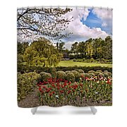 Grounds At Leeds Castle  Shower Curtain
