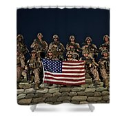 Group Photo Of U.s. Marines Shower Curtain