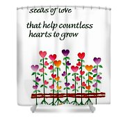 Growing Hearts Shower Curtain