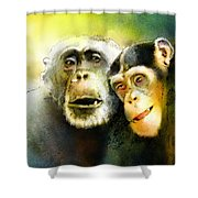 Growing Old Together Shower Curtain