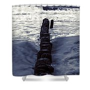 Groyne Shower Curtain by Joana Kruse