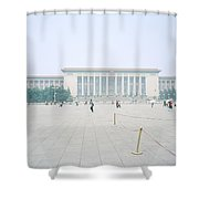 Grteat Hall Of The People In Beijing In China Shower Curtain