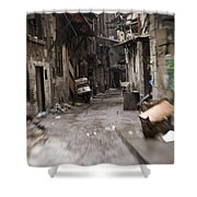 Grubby, Urban Alleyway In Chongqing Shower Curtain