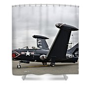 Grumman F9f-5p Panther Shower Curtain