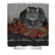 Grumpy Cat Birthday Card Shower Curtain