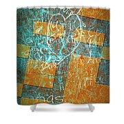 Grunge Background 6 Shower Curtain