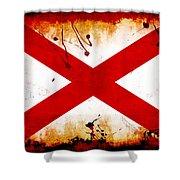 Grunge Style Alabama Flag Shower Curtain