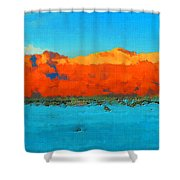 Guadalupe Mountains Sunset Shower Curtain