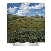 Guanella Pass Slopes Shower Curtain by Michael Kirsh