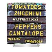 Guaranteed Farm Fresh Foods  Shower Curtain